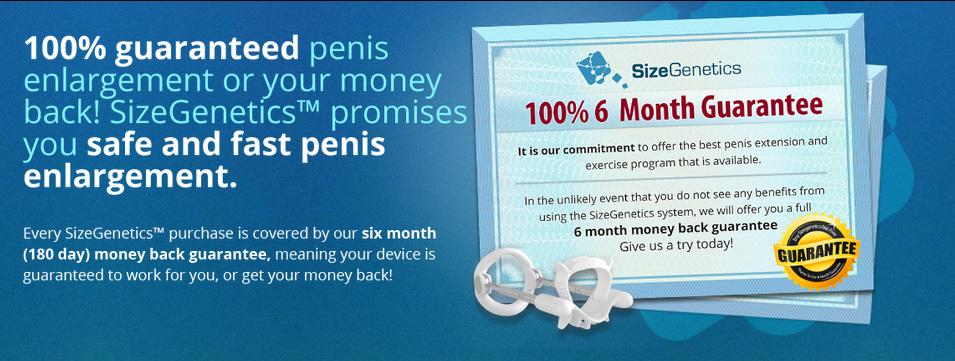 SizeGenetics 6 month guarantee